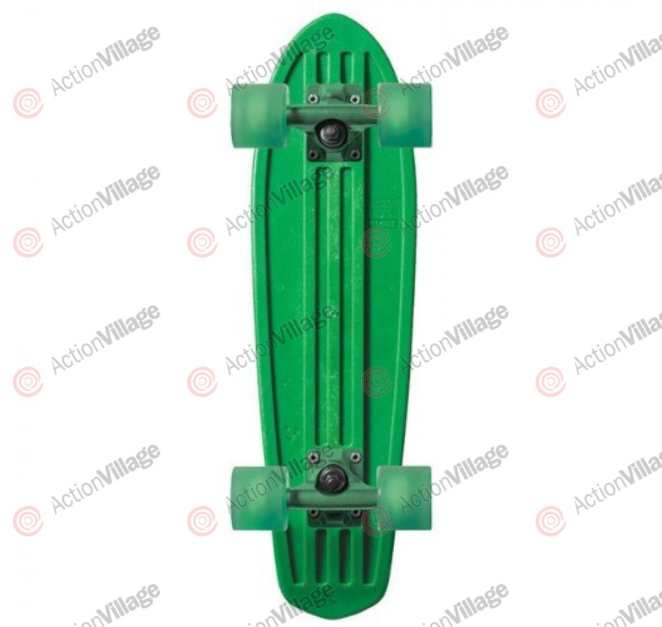 Globe Bantam Dip Sticks - Green/Green/Clear Green - Mini Cruiser 7x24 - Complete Skateboard