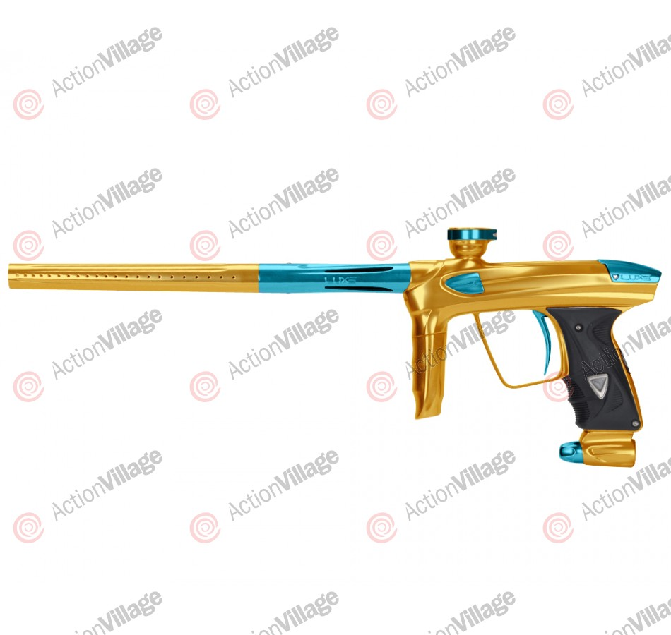 DLX Luxe 2.0 Paintball Gun - Gold/Teal