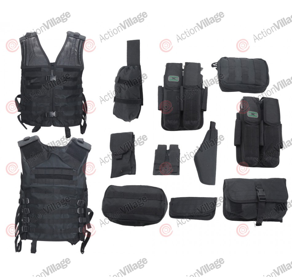 Gen X Global Lightweight Modular Paintball Vest - Black