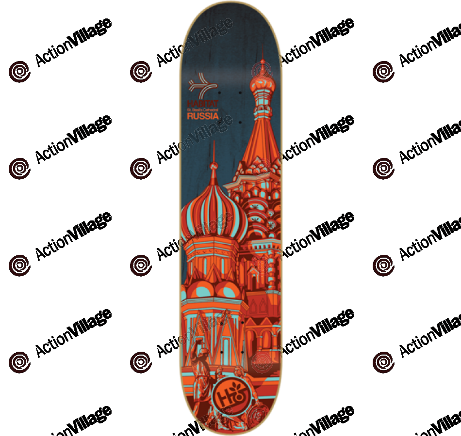 Habitat Airway Russia - Red - 8.18 - Skateboard Deck