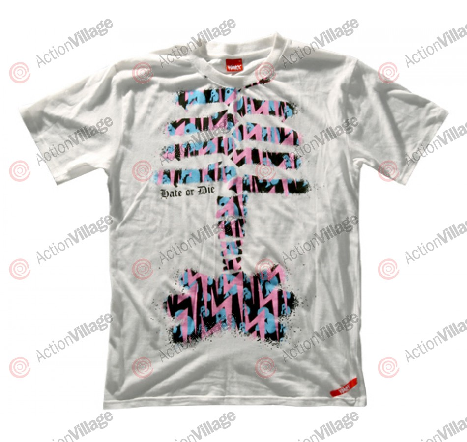 Hater 09 Paintball T-Shirt - Skeleton - White