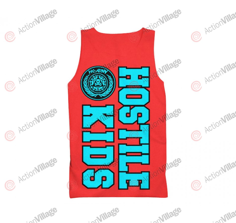 HK Army Hostile Kids Paintball Tank Top - Red