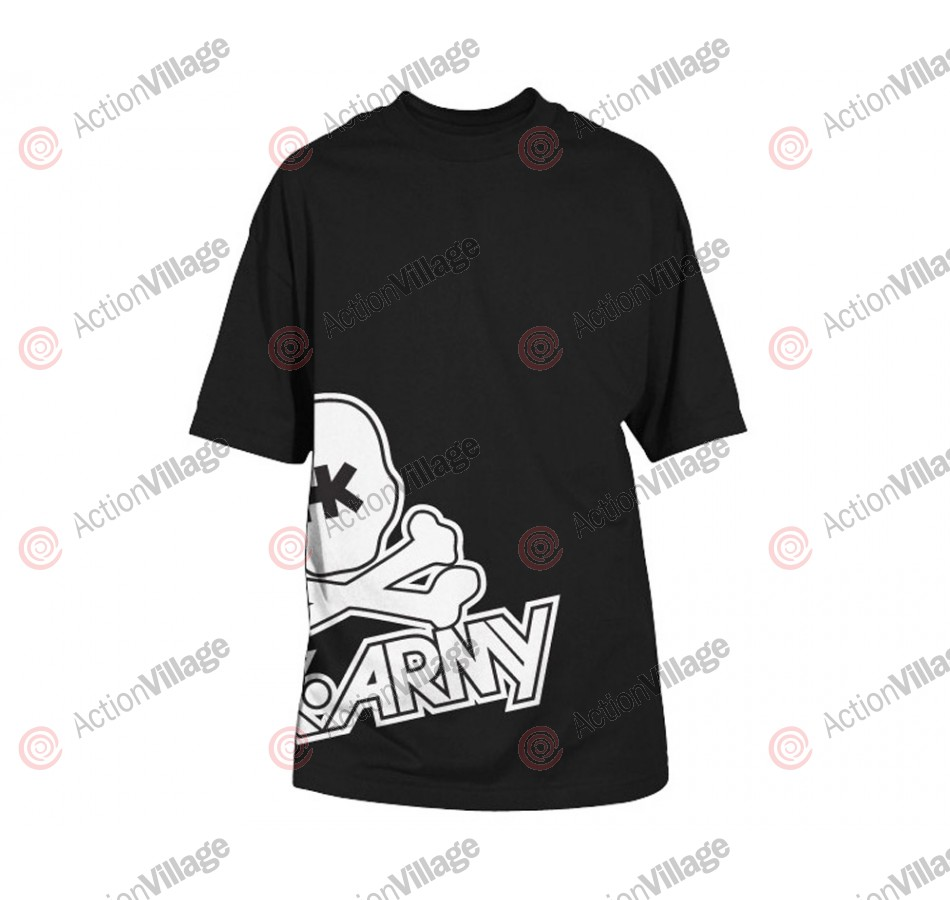 HK Army Side Skull Paintball T-Shirt - Black