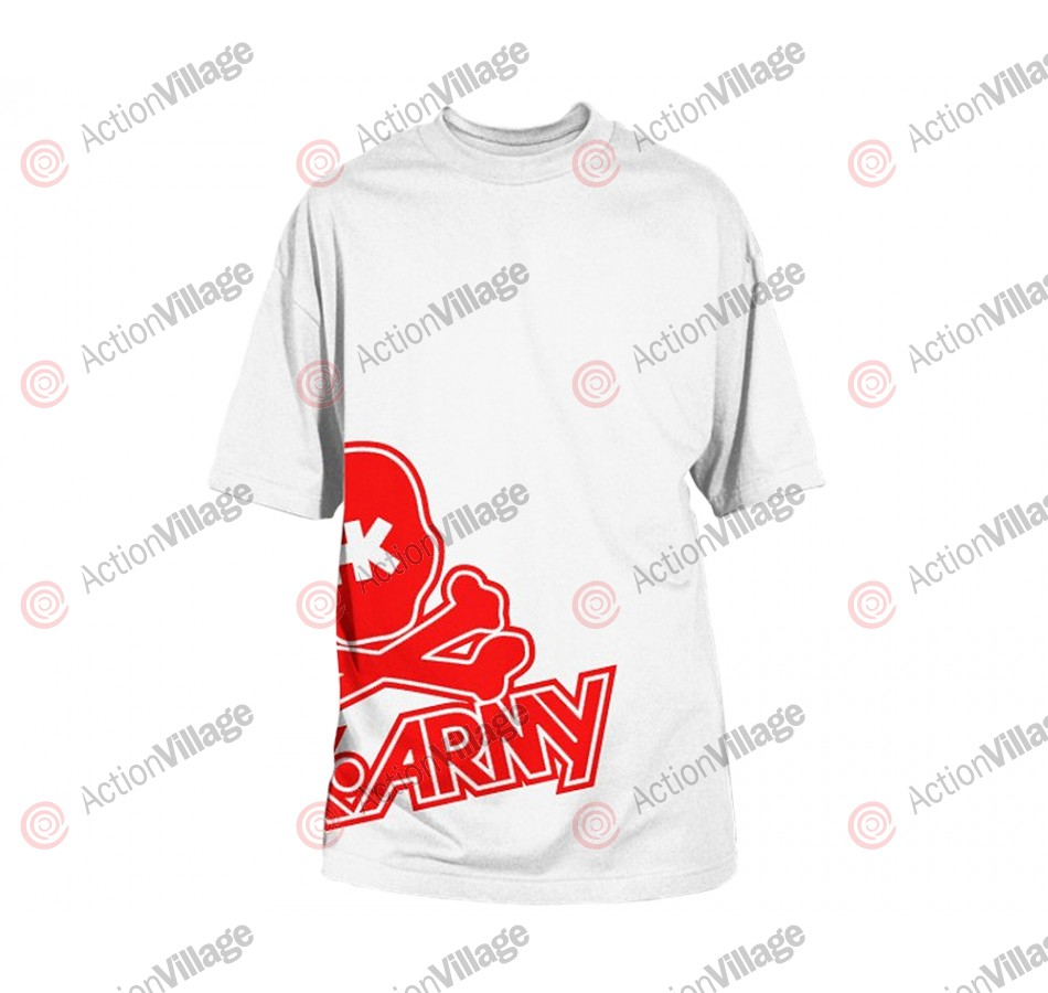 HK Army Side Skull Paintball T-Shirt - White