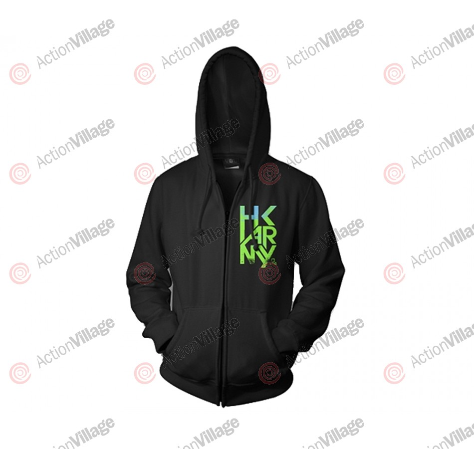 HK Army Dusk Zip-Up Hooded Sweatshirt - Black/Green/Pink