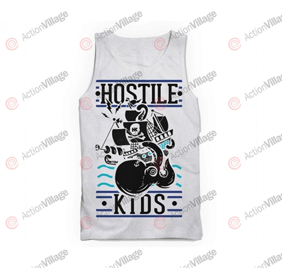 HK Army Pirate Ship Paintball Tank Top - White