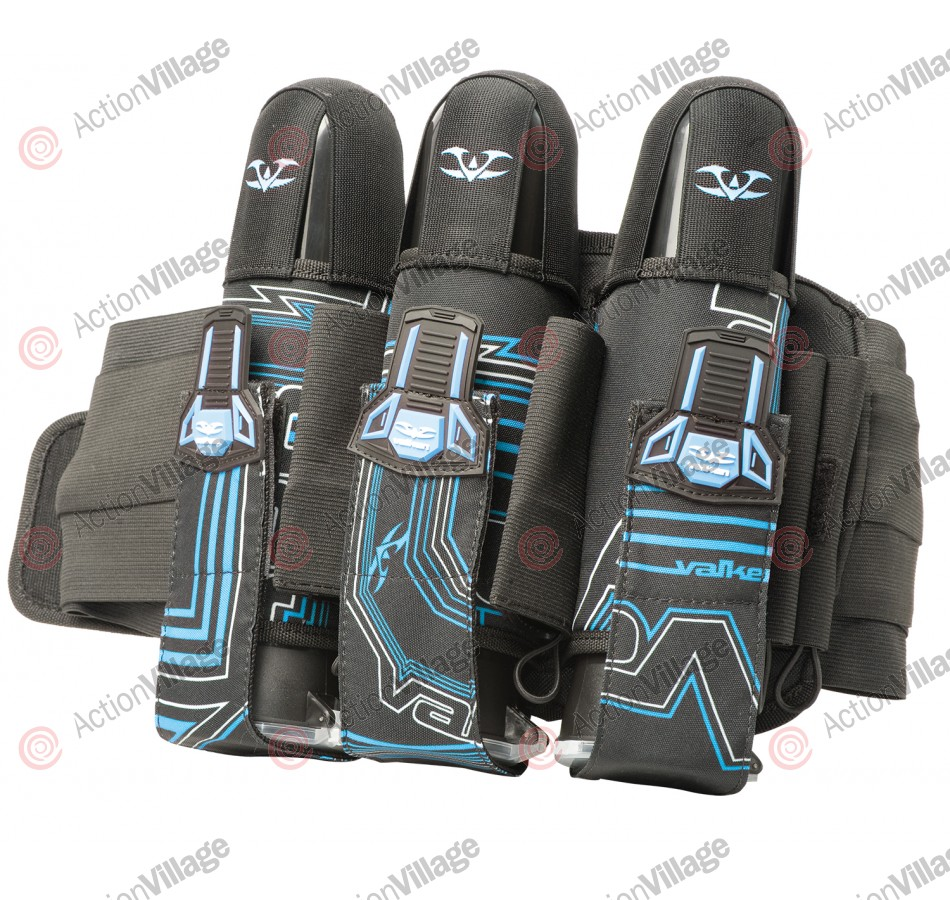 2012 Valken Crusade Paintball Harness 3+6 - Tron Blue