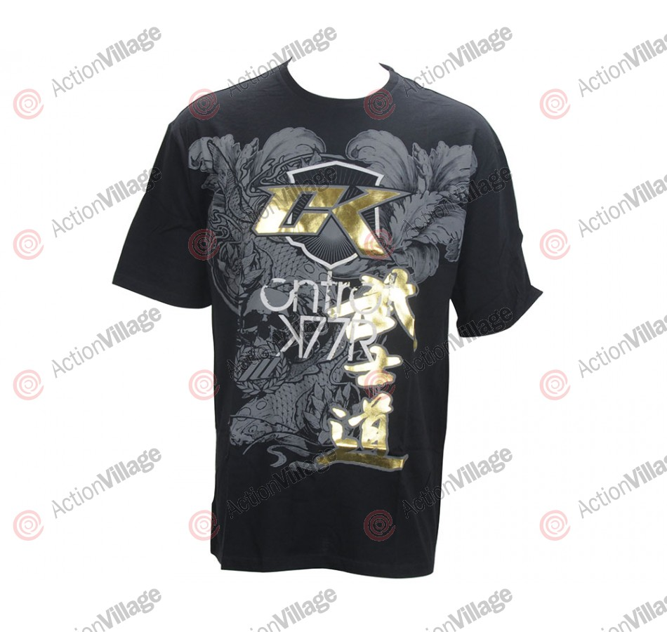 Contract Killer Koishido T-Shirt - Black/Gold Foil
