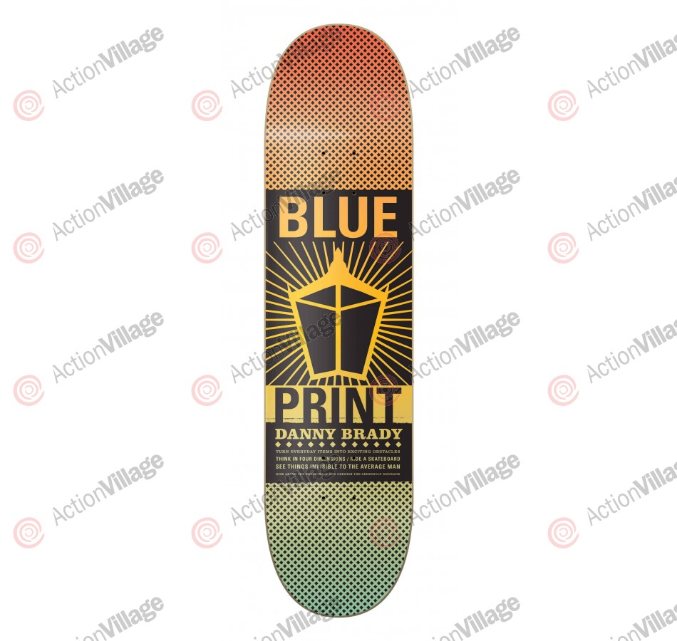 Blueprint Skateboards Pachinko Fade Danny Brady - 8.0 - Skateboard Deck