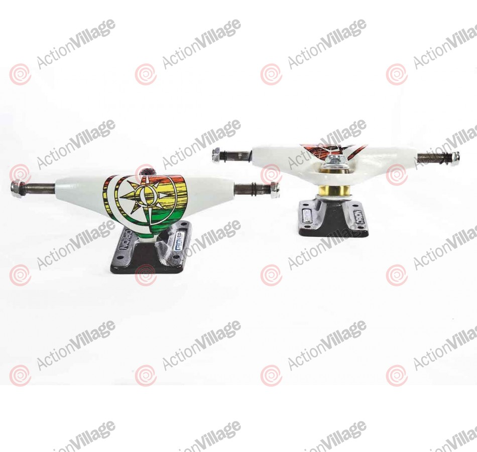 Orion Trucks Superior - 130mm - White Rasta - Skateboard Trucks