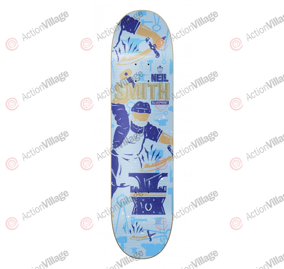 Blueprint Skateboards Smith Blacksmith - 8.0 - Skateboard Deck