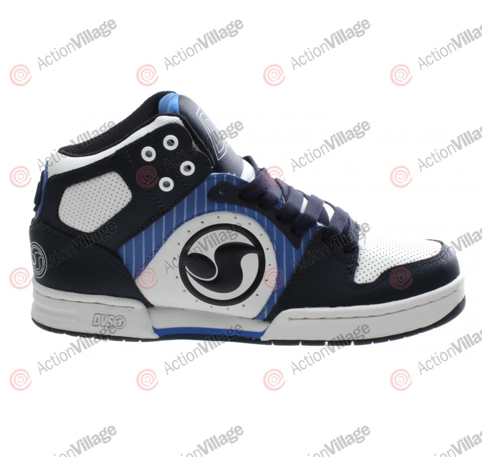 DVS Aces High - Blue/White Leather - Skateboard Shoes
