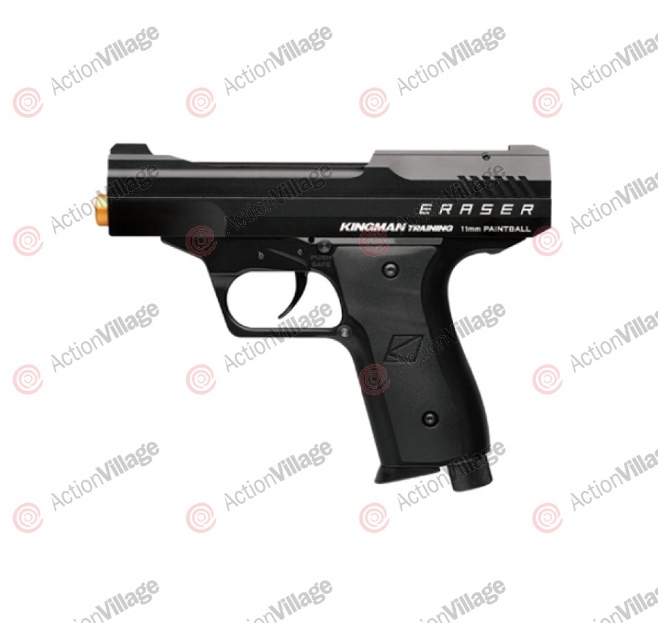 Kingman Training Eraser 43 Caliber Paintball Pistol - Jet Black