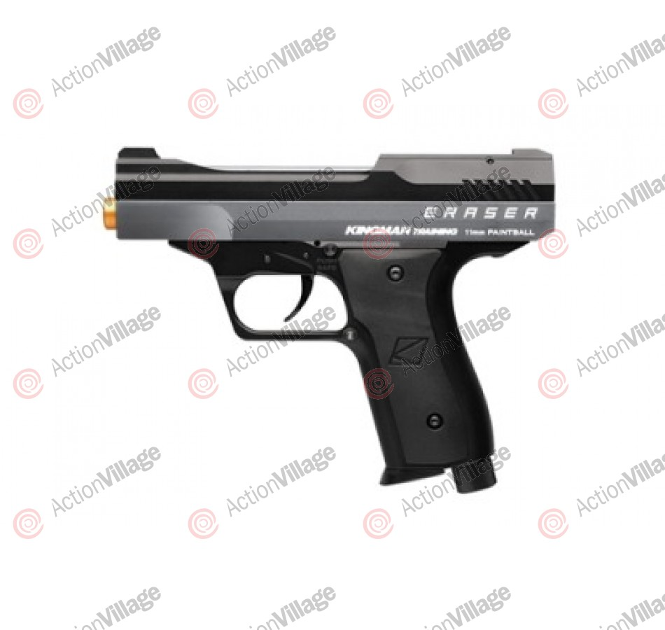 Kingman Training Eraser 43 Caliber Paintball Pistol - Titanium Grey