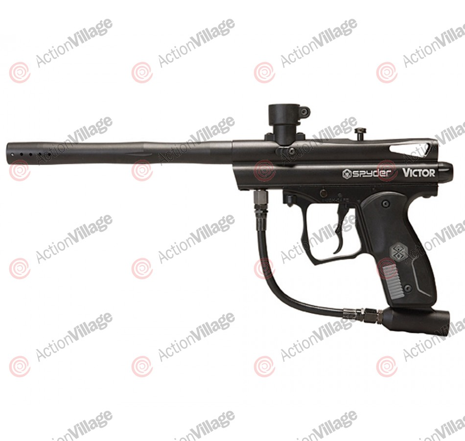2012 Kingman Spyder Victor Semi-Auto Paintball Gun - Diamond Black