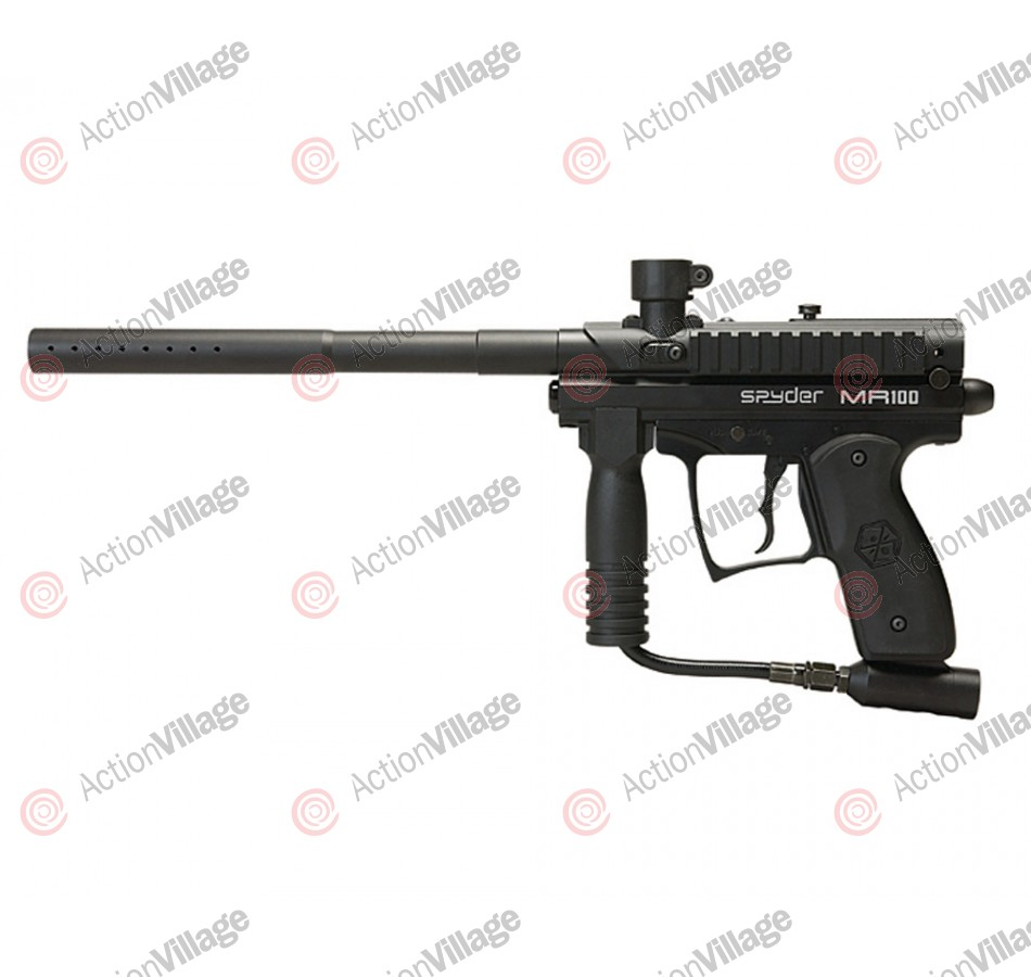 2012 Kingman Spyder MR100 Po  Semi-Auto Paintball Gun - Diamond Black