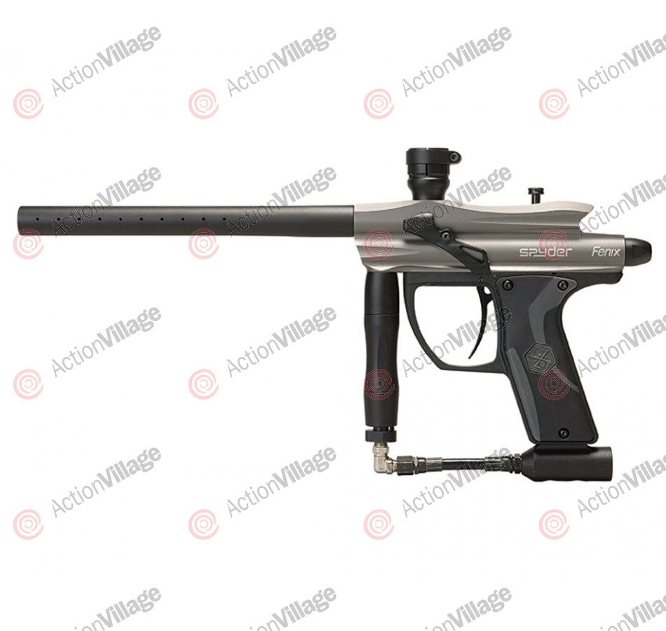 2012 Kingman Spyder Fenix Electronic Paintball Gun - Silver Grey