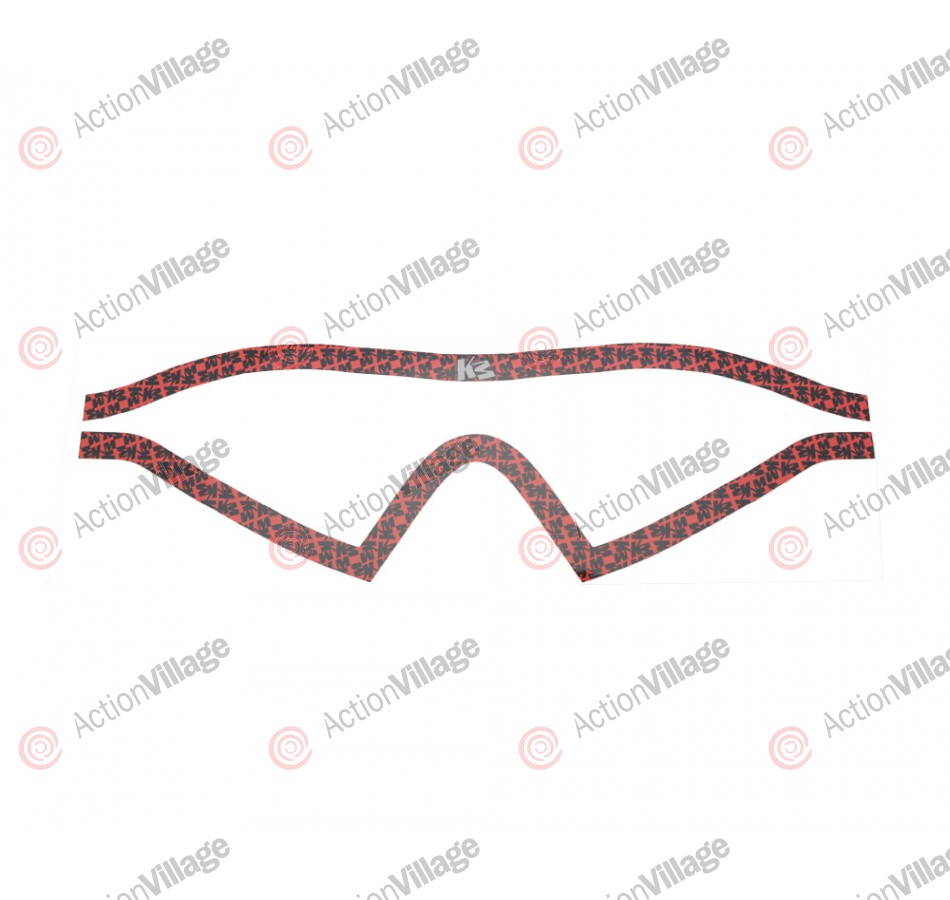 KM Paintball Mask Wraps - I4 Lens - All Over Red