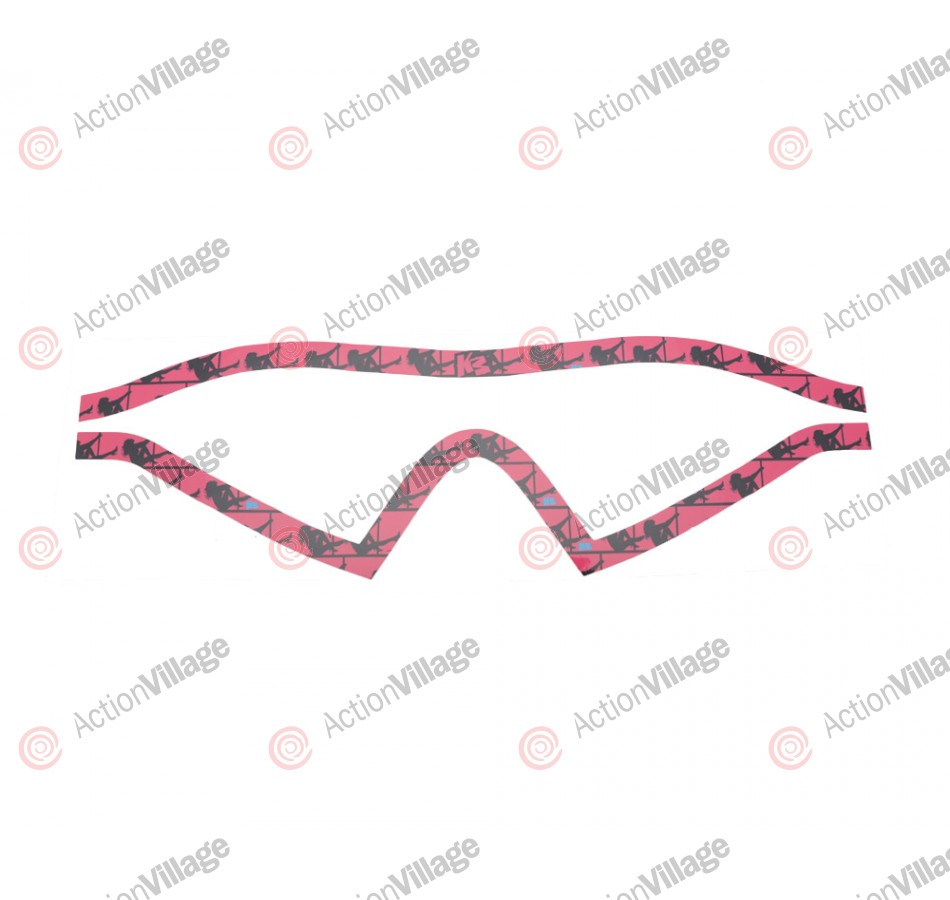 KM Paintball Mask Wraps - I4 Lens - Stripper