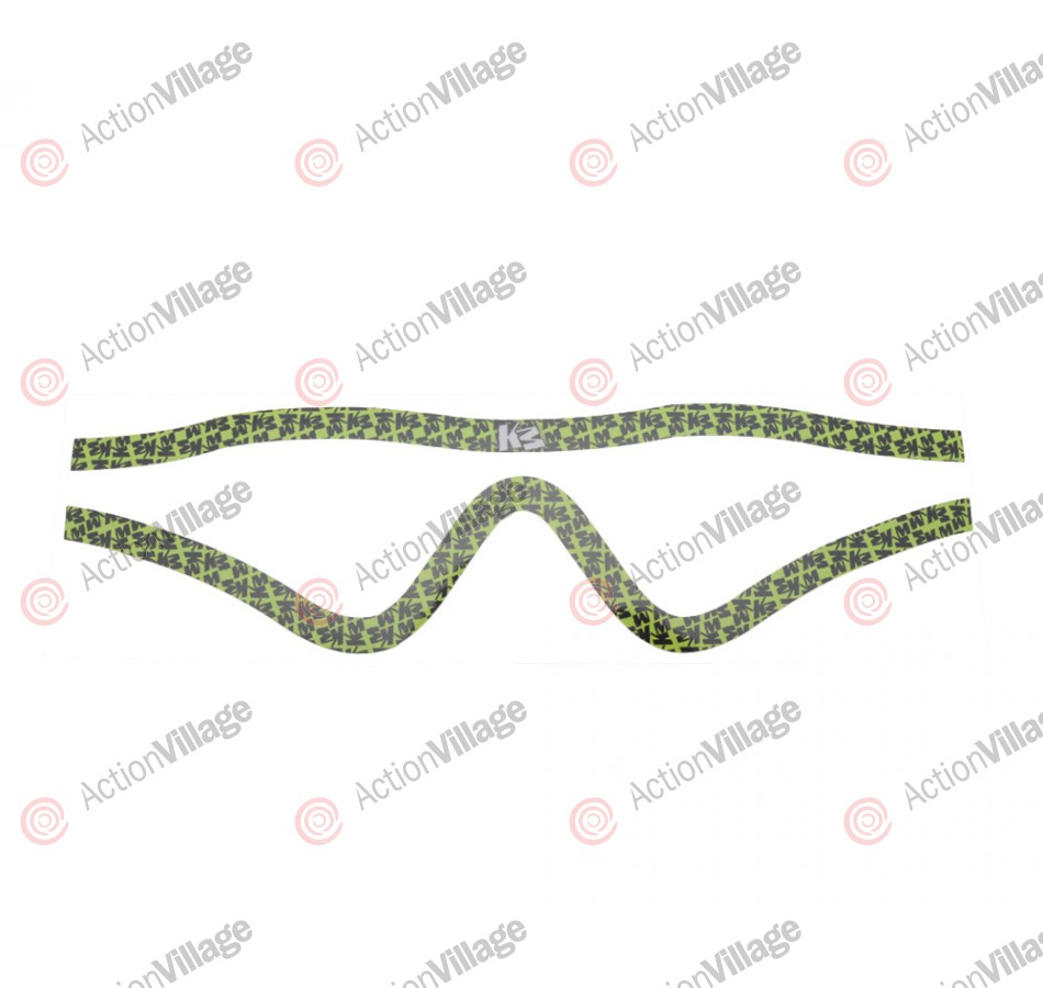 KM Paintball Mask Wraps - Profit Lens - All Over Lime