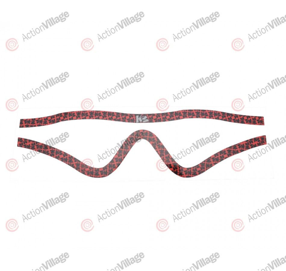 KM Paintball Mask Wraps - Profit Lens - All Over Red