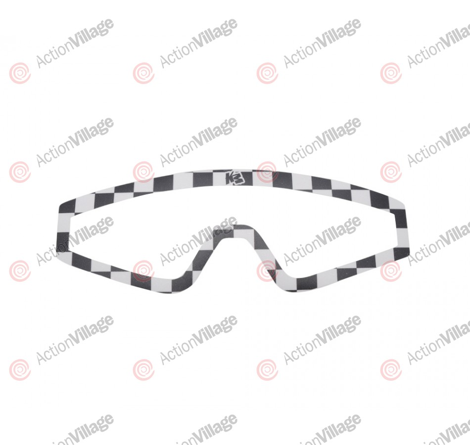 KM Paintball Mask Wraps - Spectra Lens - White Checkers