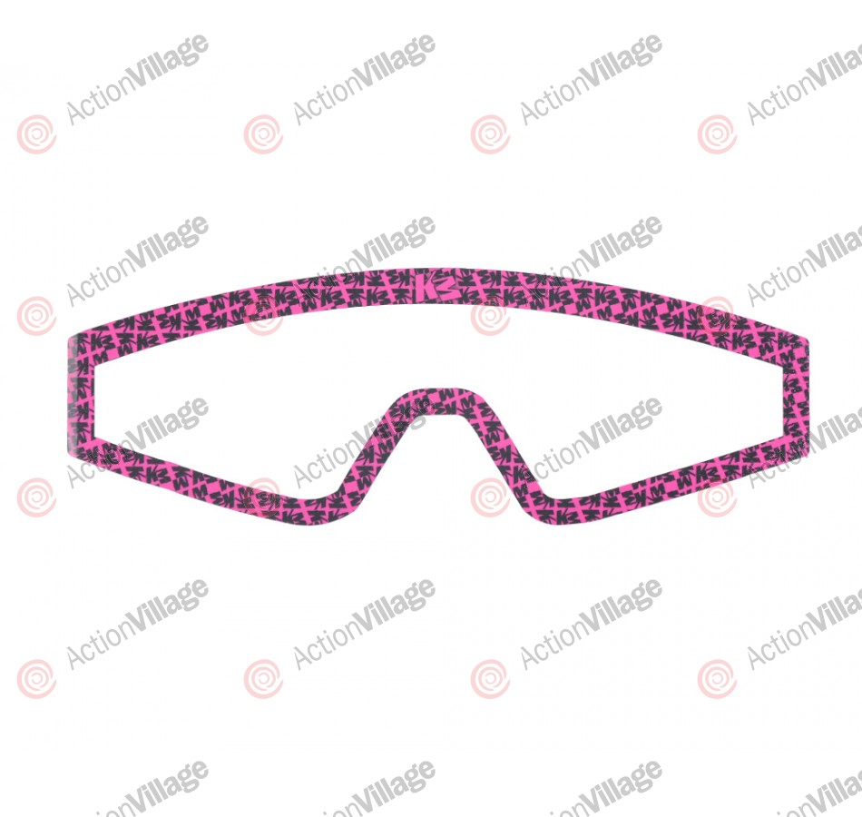 KM Paintball Mask Wraps - Spectra Lens - All Over Pink