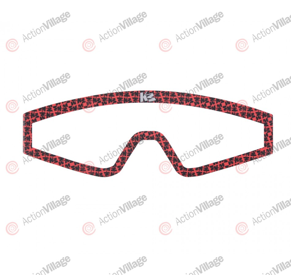 KM Paintball Mask Wraps - Spectra Lens - All Over Red