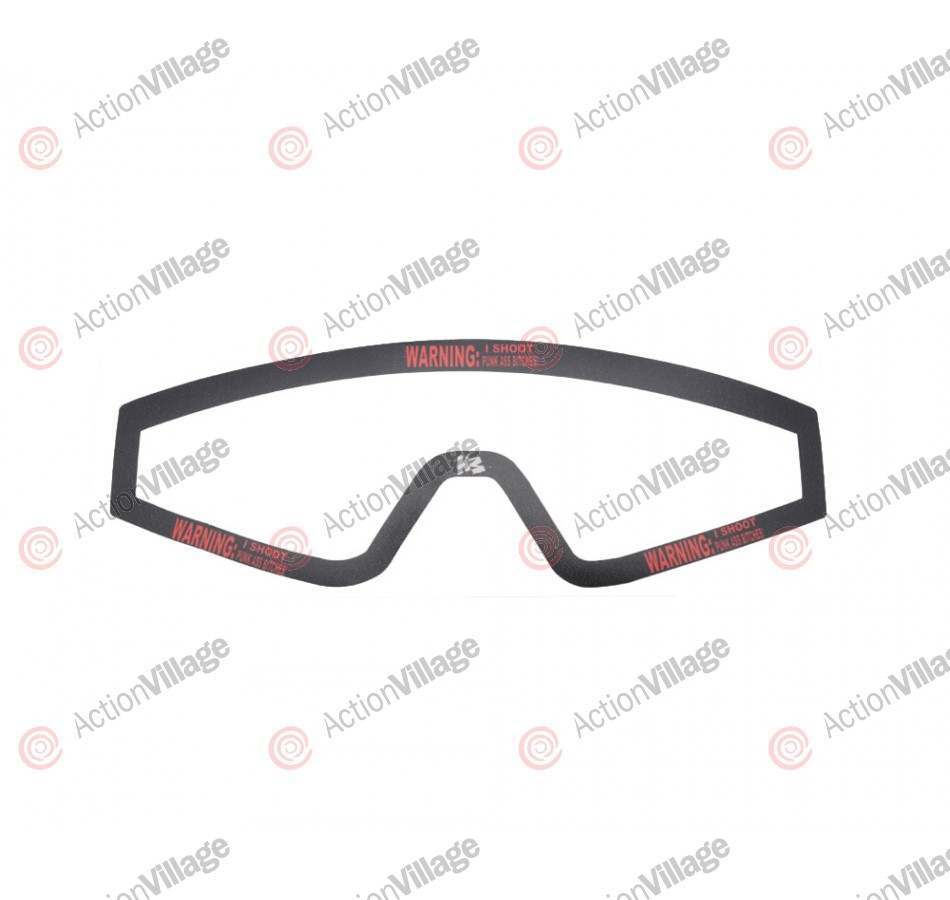 KM Paintball Mask Wraps - Spectra Lens - Warning