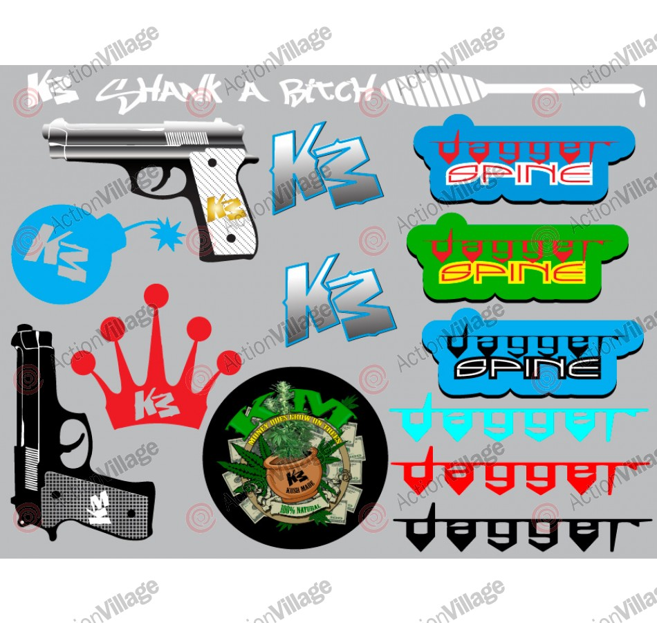 KM Paintball Sticker Sheet - 8