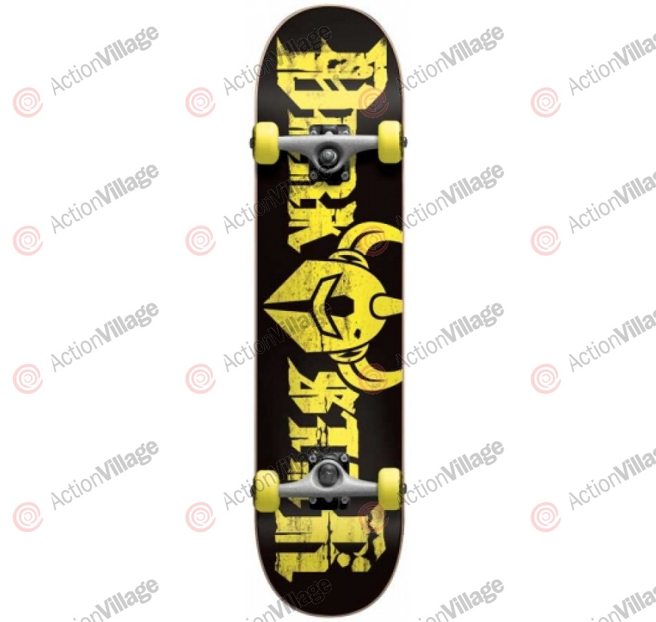 Darkstar Ruin First Push Youth Mid - Yellow - 7.3 - Youth Complete Skateboard