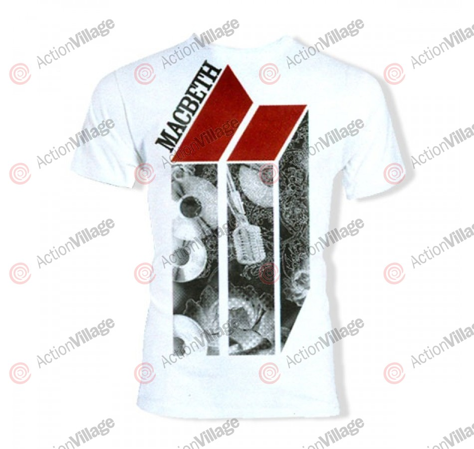 Macbeth Mic Check - White - T-Shirt - X Large