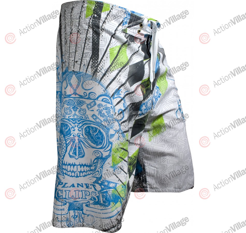 Planet Eclipse Men's 2010 Mayan Surf Shorts - White