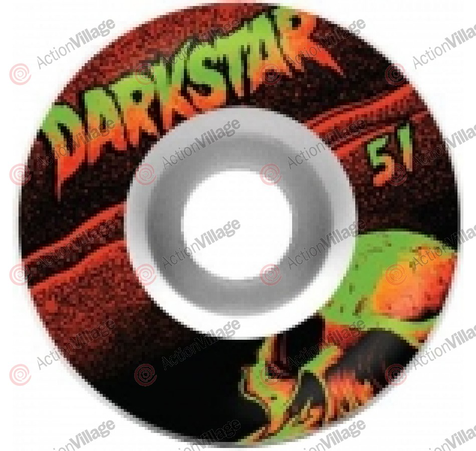 DarkStar Skull Street Formula - White/Black - 51mm - Skateboard Wheels