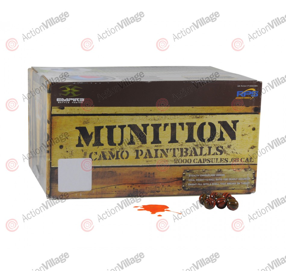 Empire Munitions Paintballs Case 2000 Rounds - Orange Fill