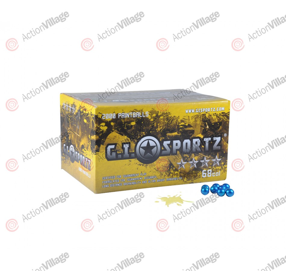 GI Milsim 4 Star Paintball Case 500 Rounds - Yellow Fill