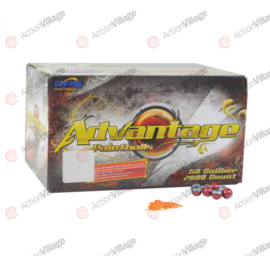 JT Advantage Paintballs Case 2000 Rounds - Orange Fill