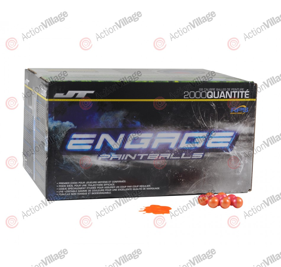 JT Engage Paintballs Case 2000 Rounds - Orange Fill