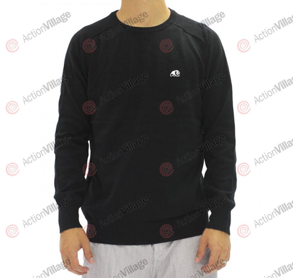 Enjoi Panda Patch Solid Sweater - Black - Mens Sweatshirt