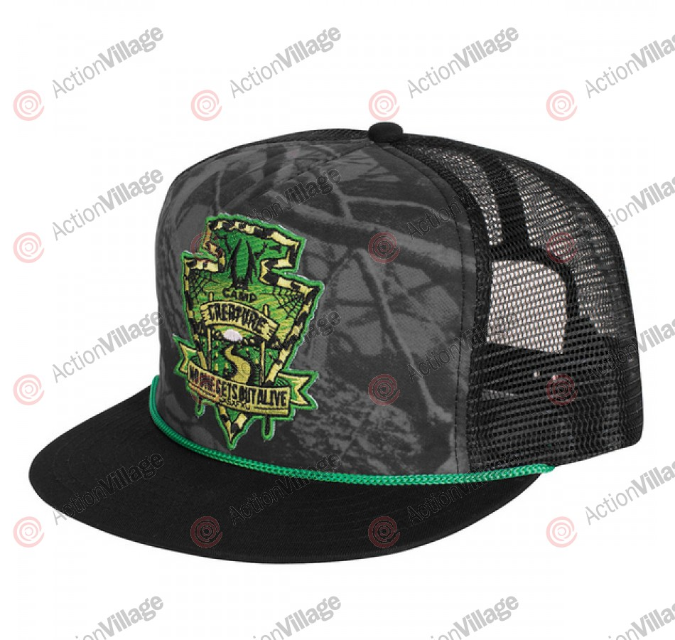 Creature Camp Trucker Mesh Hat - One Size Fits All - Black
