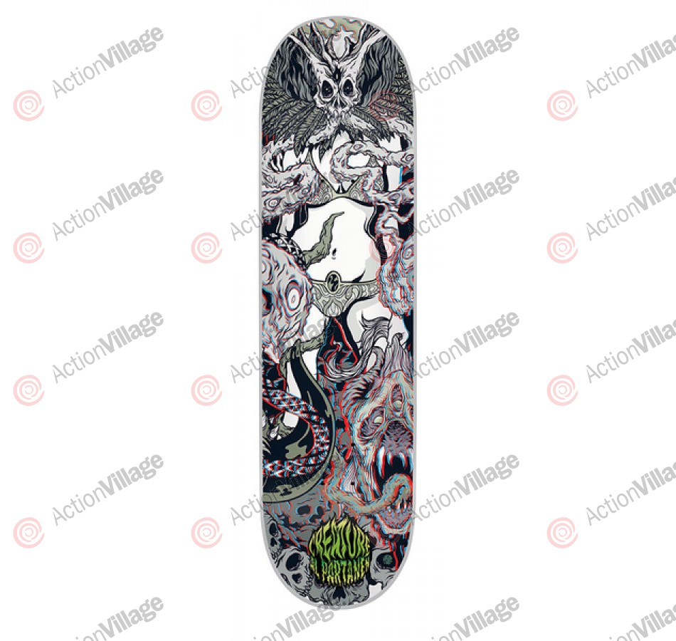 Creature Partanen Ritual 3D Powerply - Grey - 8.1in x 31.9in - Skateboard Deck