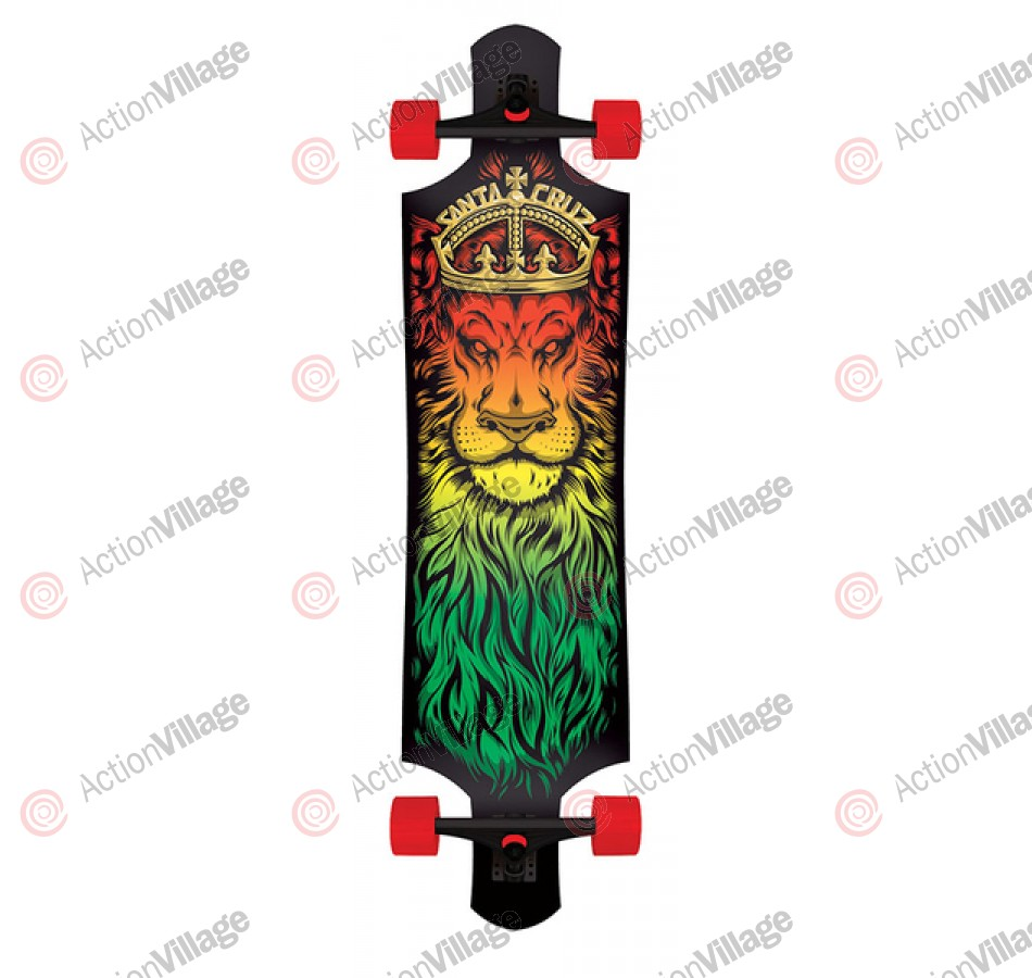 Santa Cruz Lion God Drop Down Cruzer - 10in x 40in - Complete Skateboard