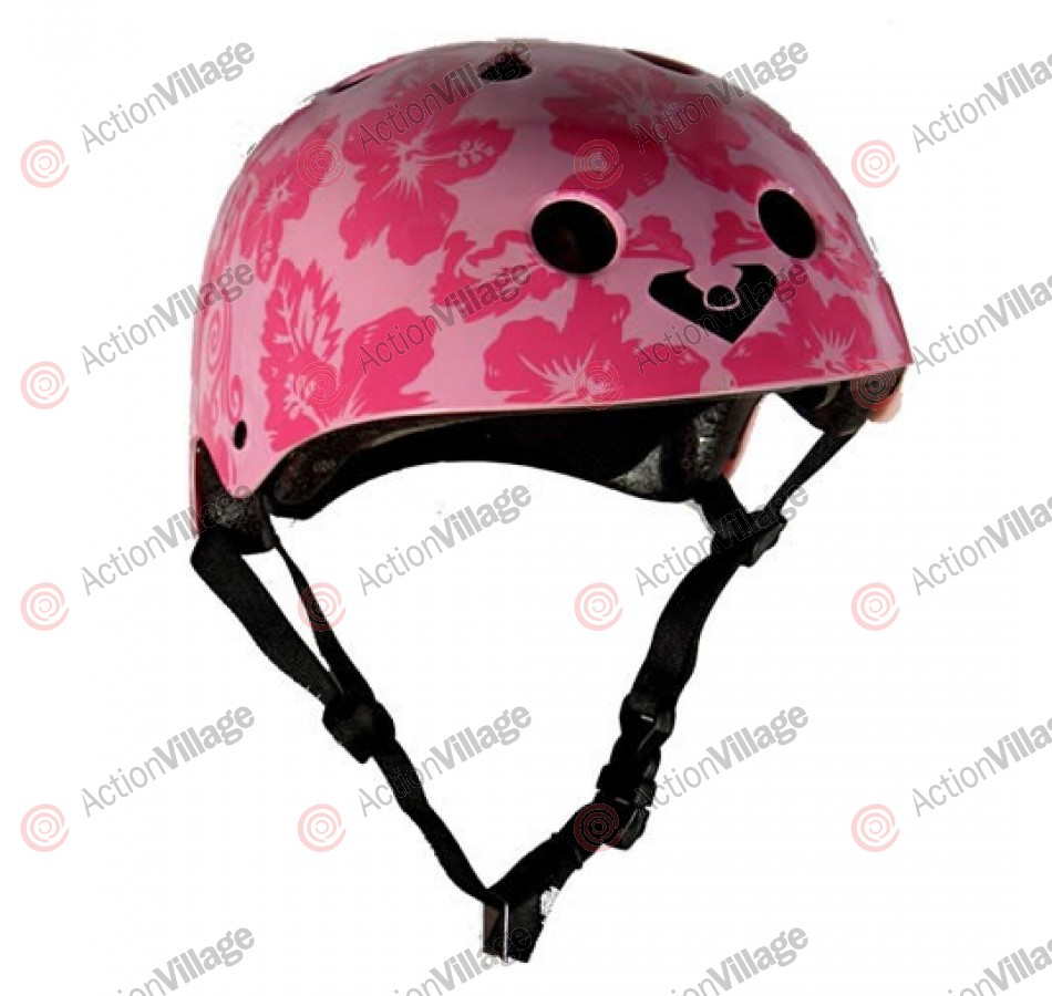 Viking - Pink Hawaiian Floral - One Size Fits All - Helmet