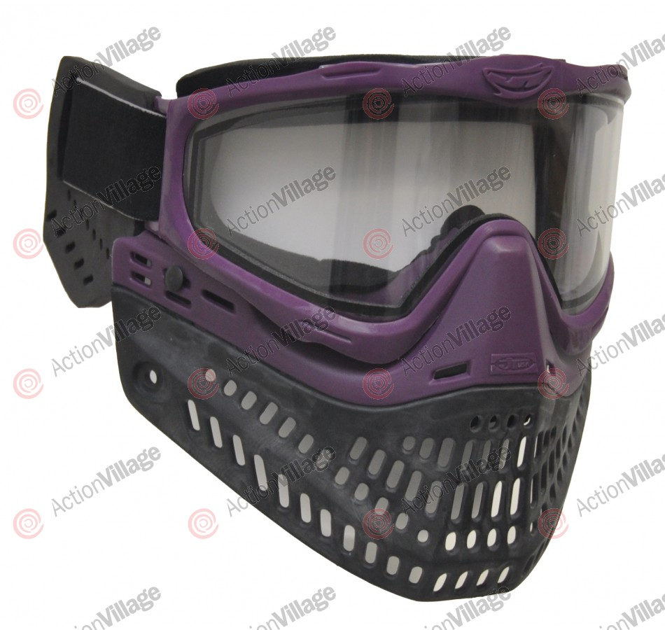 JT ProFlex Thermal Paintball Mask w/ Clear Lens - EPS Purple