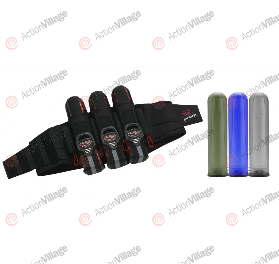 Proto 08 2008 Fighter Paintball Harness - 3+4 Pack w/ 3 Alpha Pods