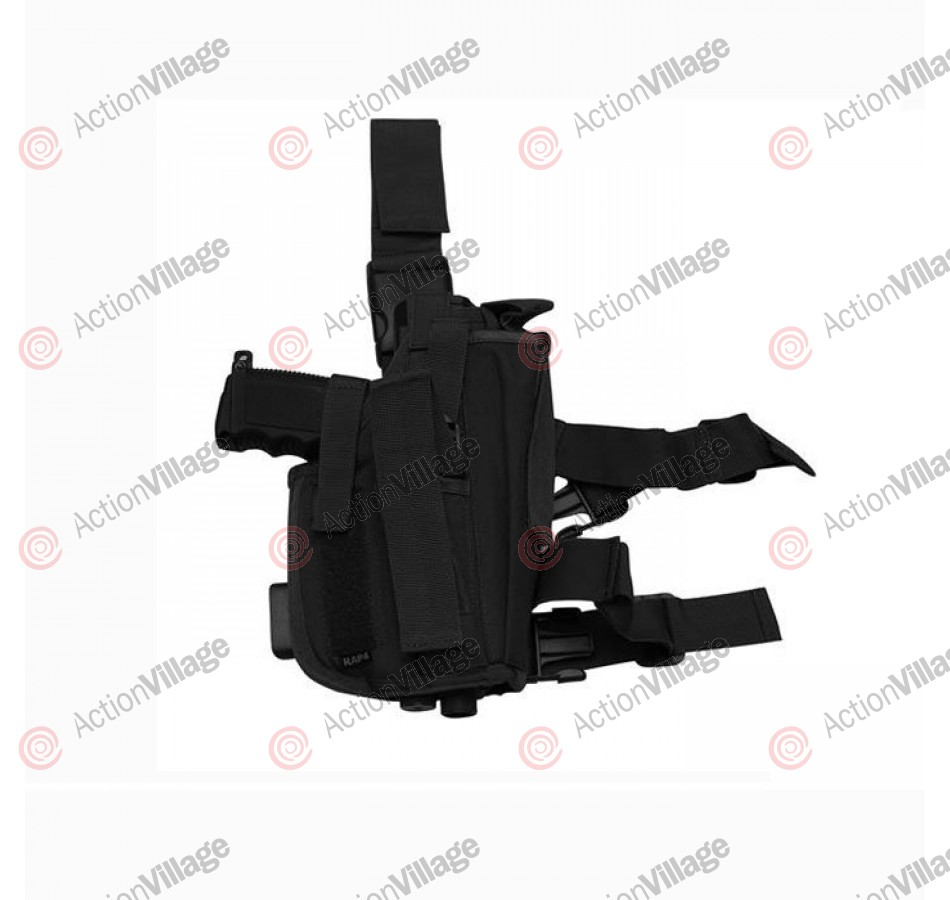 RAP4 Tippmann TPX Paintball Pistol Leg Holster - Left Hand - Black