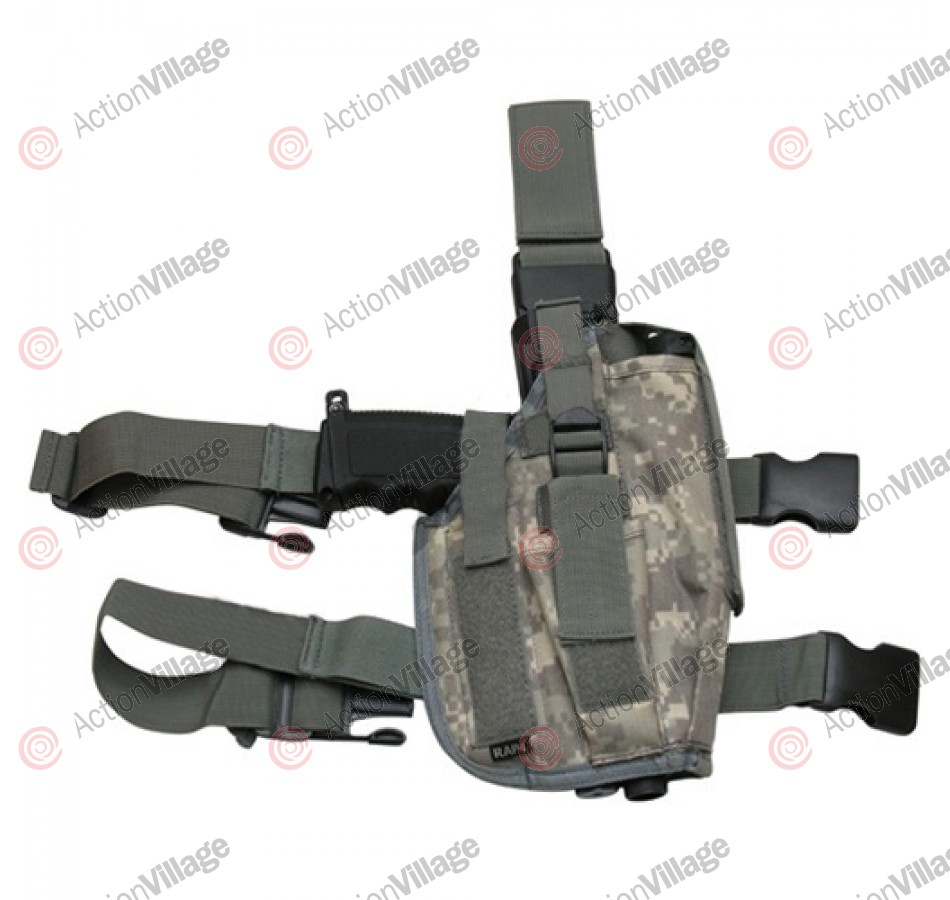 RAP4 Tippmann TPX Paintball Pistol Leg Holster - Right Hand - ACU Camo