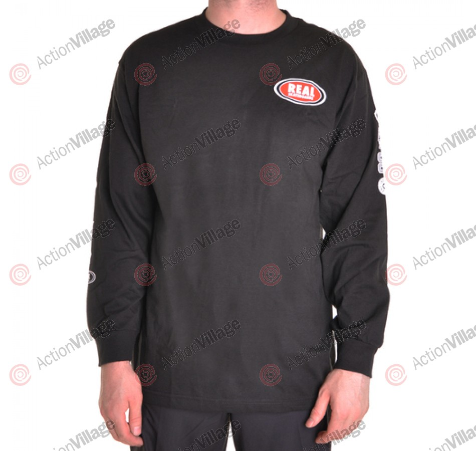 Real L/S Roll Forever - Black - Long Sleeve T-Shirt
