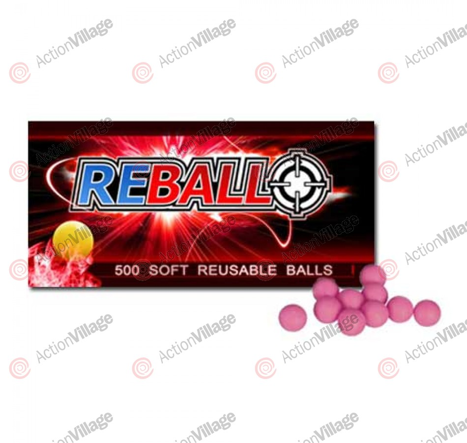 Reball 50 Re-Usable Paintballs - Pink