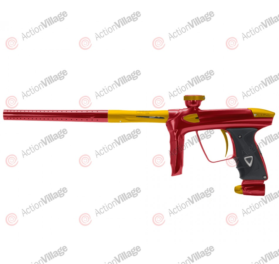 DLX Luxe 2.0 Paintball Gun - Red/Dust Gold